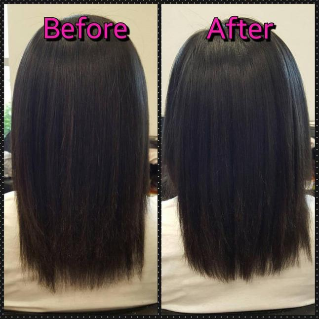 Hair Skin and Nails_Start of 30 Day Review_Hair Trim Before and After Trim