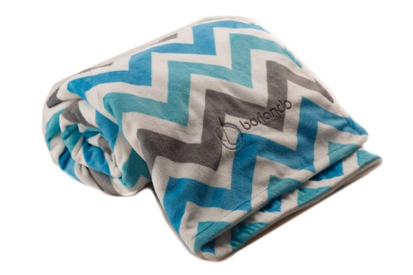 Barlando_Chevron_Boy_Baby_Blanket_Review On FixItWithFran