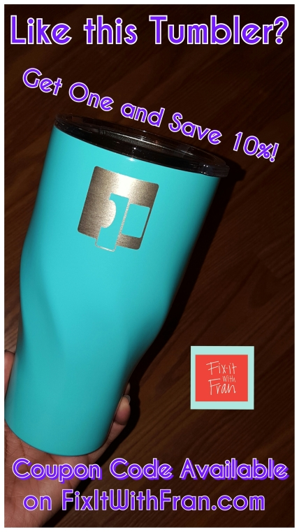 Eximius Power Stainless Steel Tumbler Review on FixitWithFran.com