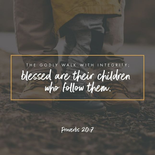 Proverbs 20:7 NLT