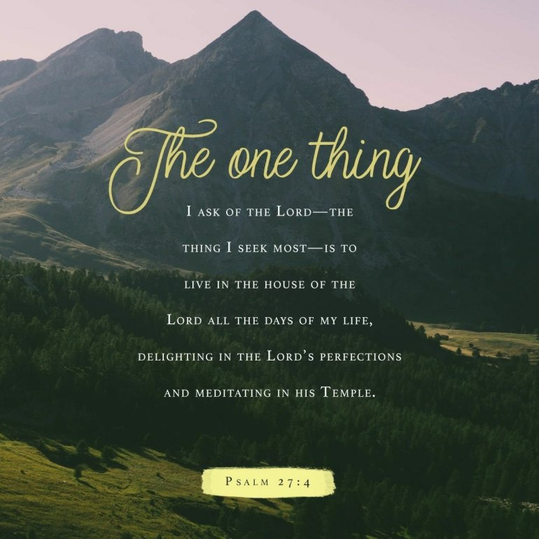 Verse of the Day – Psalm 27:4, Fix-It With Fran: All Things
